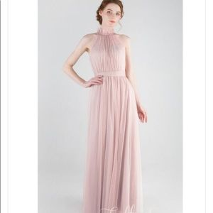 Tulle and chantilly pink dress.